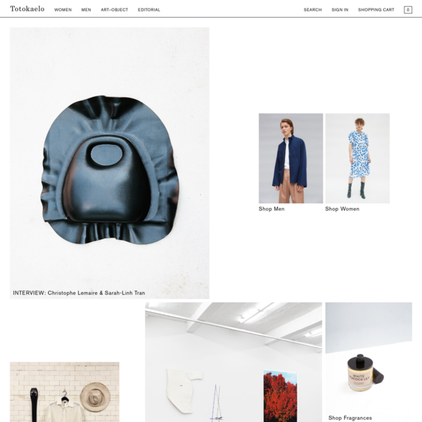 Purveyor of beautifully designed and thoughtfully curated fashion and objects.