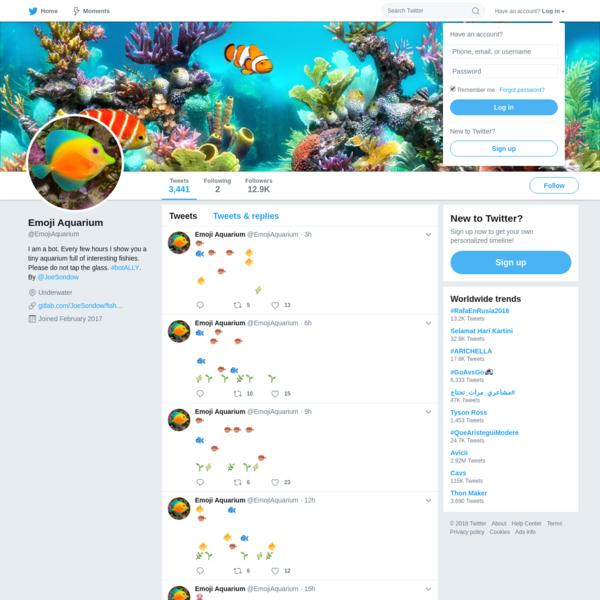 Emoji Aquarium (@EmojiAquarium) | Twitter