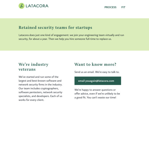 Latacora | Security Teams For Startups