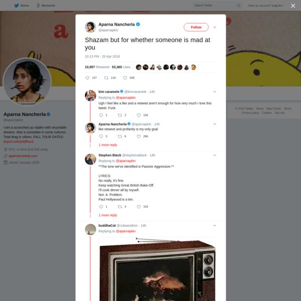 Aparna Nancherla on Twitter