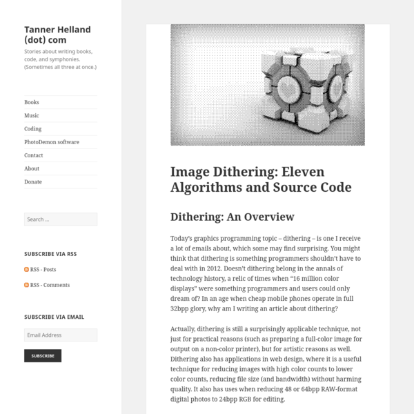 Image Dithering: Eleven Algorithms and Source Code