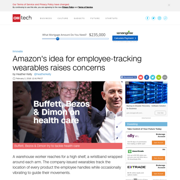 Amazon's idea for employee-tracking wearables raises concerns