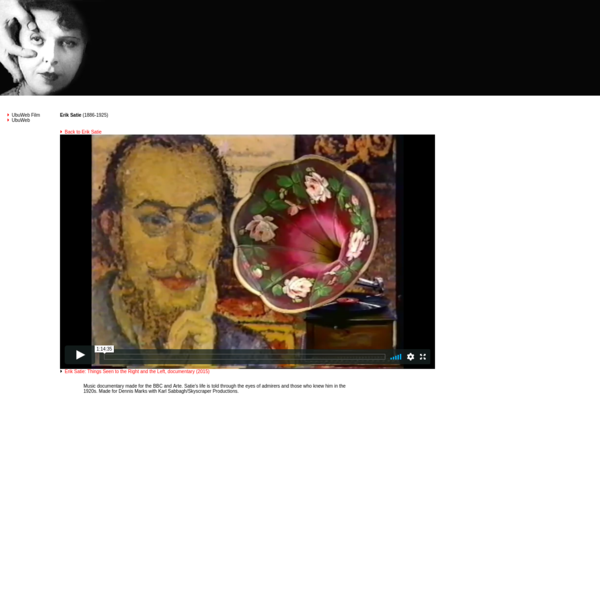 U B U W E B - Film & Video: Erik Satie - Fat Feet (1965-66)