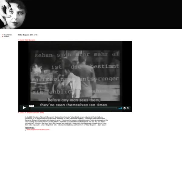 UbuWeb Film & Video: Walter Benjamin - Flâneur III: Benjamin's Shadow< (1998)