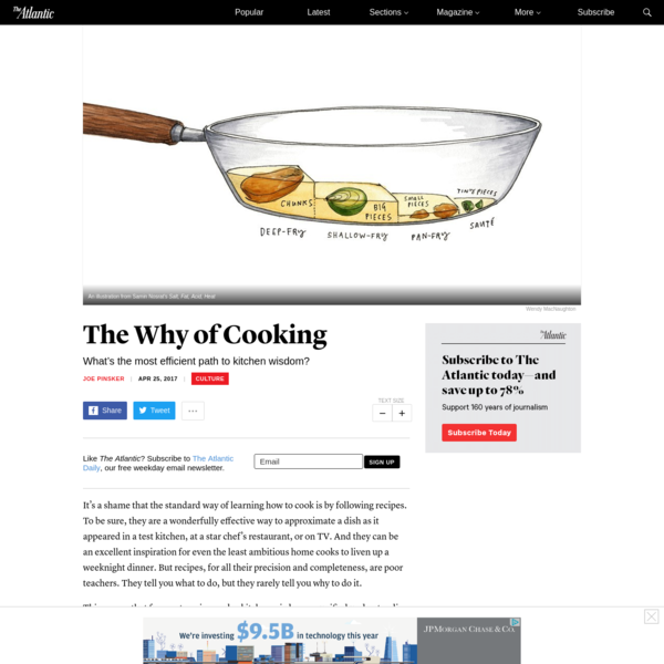It's a shame that the standard way of learning how to cook is by following recipes. To be sure, they are a wonderfully effective way to approximate a dish as it appeared in a test kitchen, at a star chef's restaurant, or on TV.