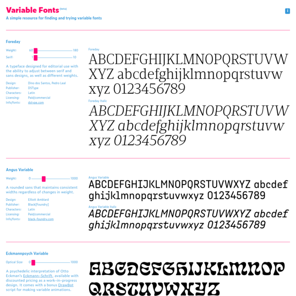 Venn VF is the first family from Dalton Maag to be distributed as a variable font. It's offered for free as a technology preview for use in commercial and non-commercial work until March 1, 2019.