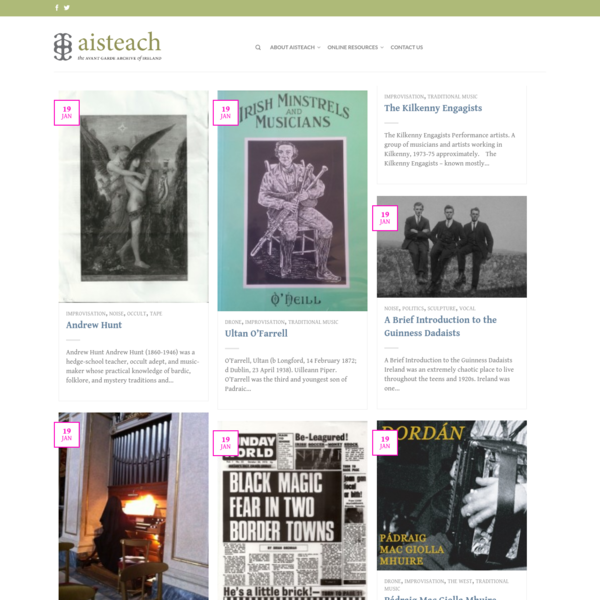 Aisteach | Preserving the history of Ireland's Avant-Garde