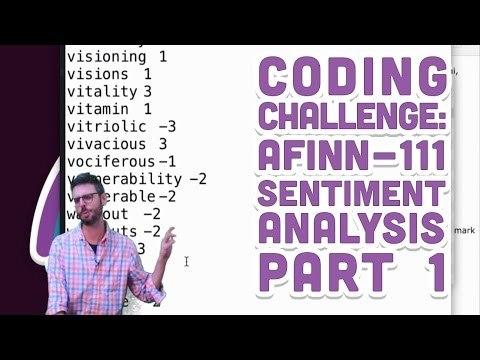 Coding Challenge #44.1: AFINN-111 Sentiment Analysis - Part 1