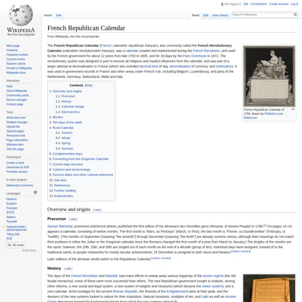 French Republican Calendar - Wikipedia