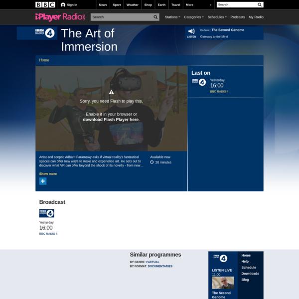 The Art of Immersion - BBC Radio 4
