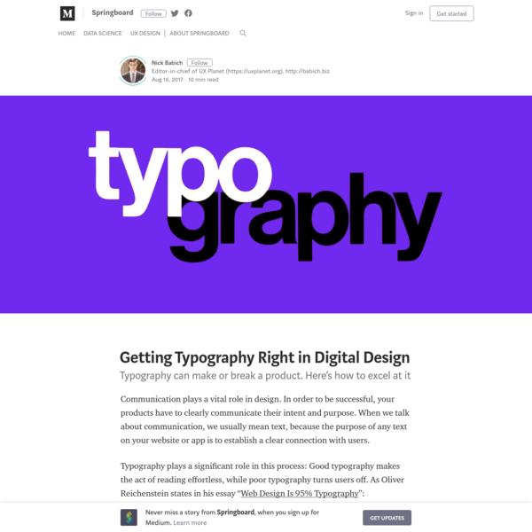 Getting Typography Right in Digital Design - Springboard