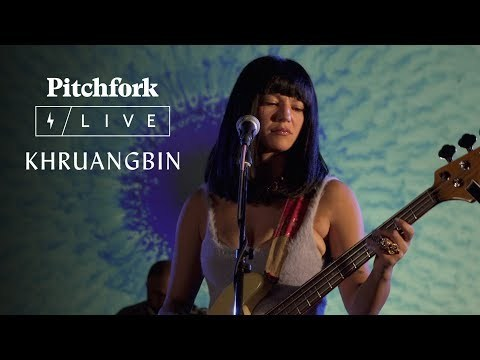 Khruangbin plays a set accompanied by Drippy Eye Projections for Pitchfork Live.