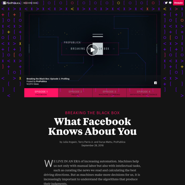Breaking the Black Box: What Facebook Knows About You - ProPublica