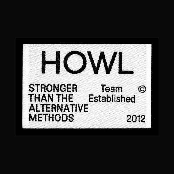 Woven label for new bags and apparel for Howl Supply.
