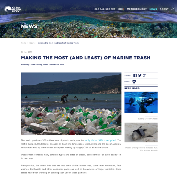 Making the Most (and least) of Marine Trash
