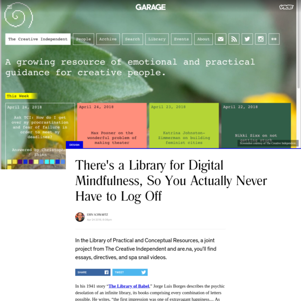 There's a Library for Digital Mindfulness, So You Actually Never Have to Log Off