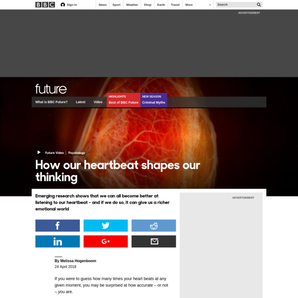 BBC - Future - How our heartbeat shapes our thinking