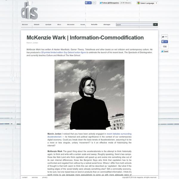 McKenzie Wark   Information-Commodification