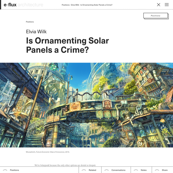 Is Ornamenting Solar Panels a Crime?
