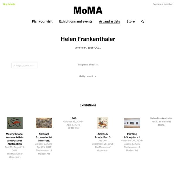 Helen Frankenthaler | MoMA