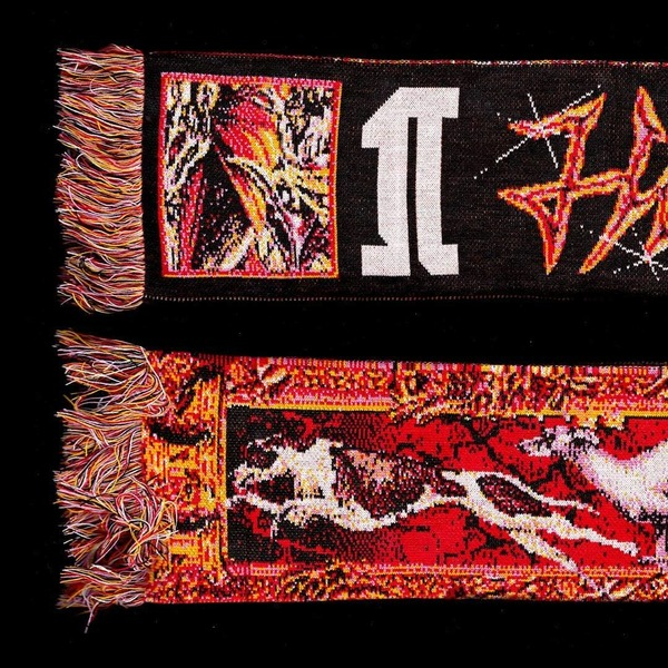 K-9 Hunting Season two-sided scarf made with the lovely @lecielegris 💖 Shipping worldwide, 30 copies, DM if interested 👹
