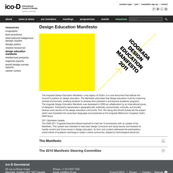 Design Education Manifesto