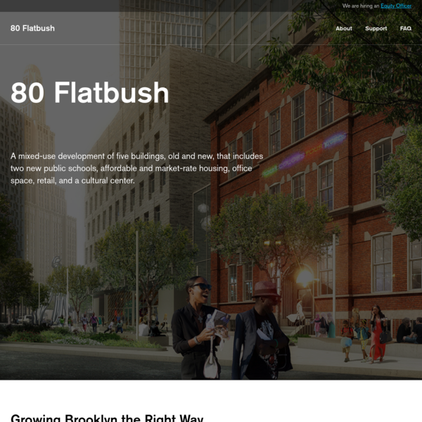 Acknowledging the dense, transportation-rich location and the depth and diversity of need for public infrastructure, 80 Flatbush aims to provide better living, through conscious architecture and planning, for Downtown Brooklyn residents.