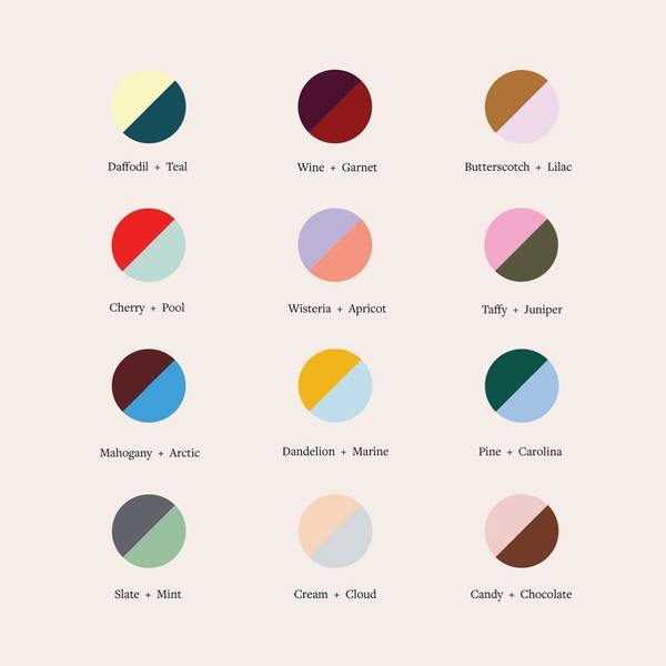 Our newest fall color theory guide to help you decide your next power couple. Tell us your favorite below.