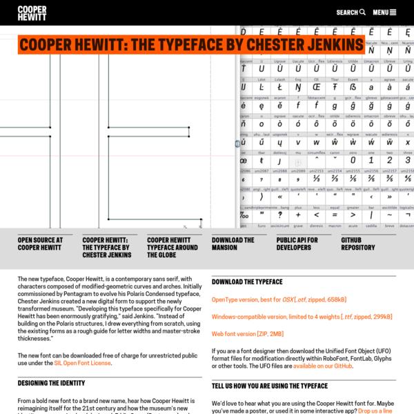 Cooper Hewitt: the typeface by Chester Jenkins | Cooper Hewitt, Smithsonian Design Museum