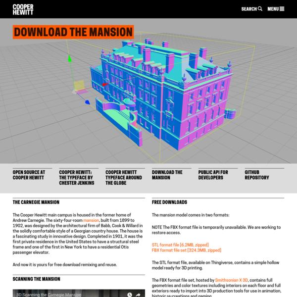 Download the Mansion | Cooper Hewitt, Smithsonian Design Museum