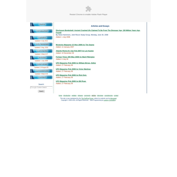 A listing of Serpo related articles.