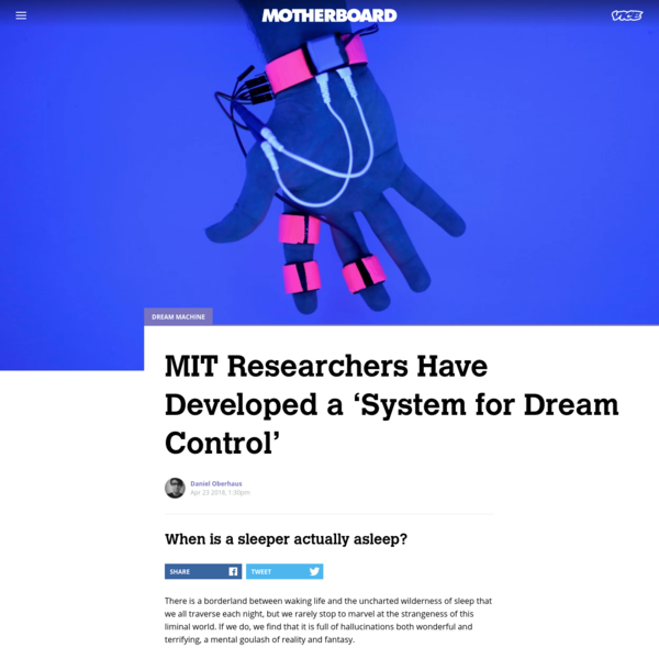 MIT Researchers Have Developed a 'System for Dream Control'