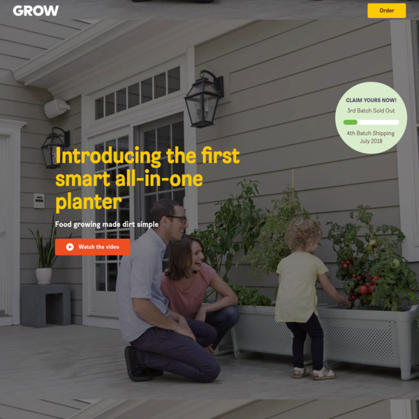 GROW Duo makes it easy to grow vegetables at home. It waters your plants based on their needs and tells you what to plant and how to take care of it.
