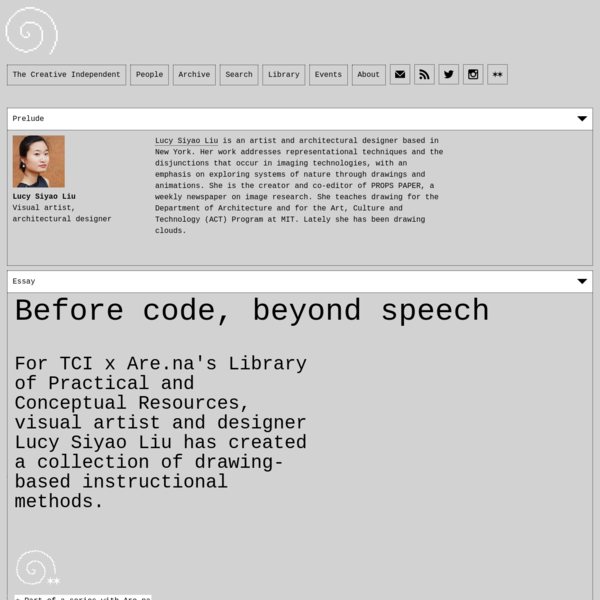 Before code, beyond speech
