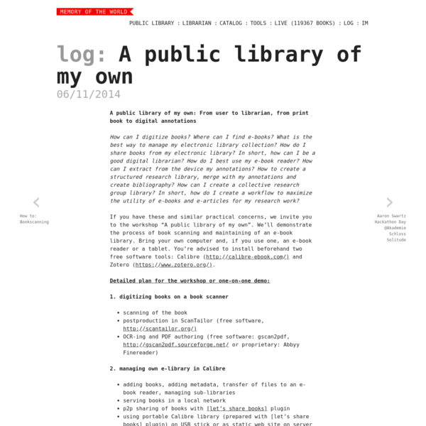 A public library of my own