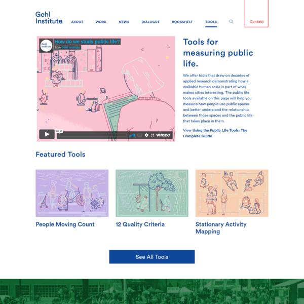 Public Life Tools (Tools Landing) - Gehl Institute