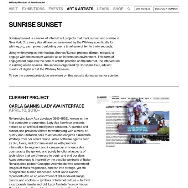 Sunrise Sunset | Whitney Museum of American Art