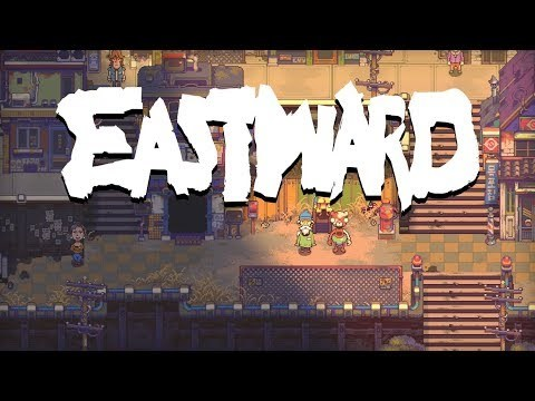 Eastward is an adventure game for PC & Mac combining RPG elements, with a visual style inspired by 90s Japanese animation. As the world around falls to ruin, you play as hardworking digger John, who must guide a mysterious girl named Sam through dangerous decaying cities, inhabited by strange monsters, and even stranger people!
