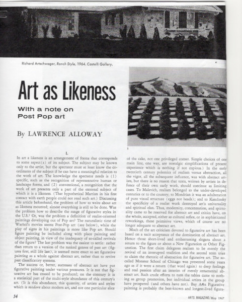 Arts Magazine, May 1967