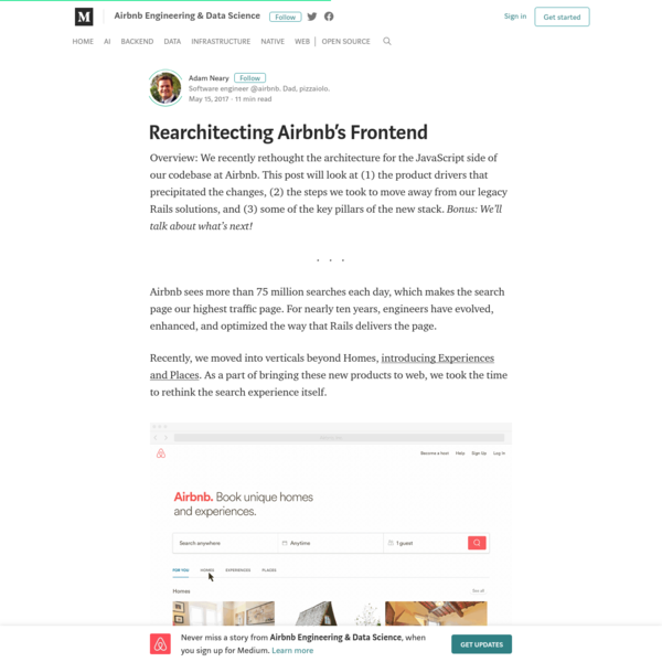 Rearchitecting Airbnb's Frontend - Airbnb Engineering & Data Science - Medium