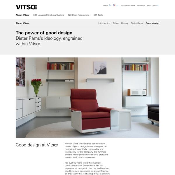 Good design | About Vitsœ | Vitsœ