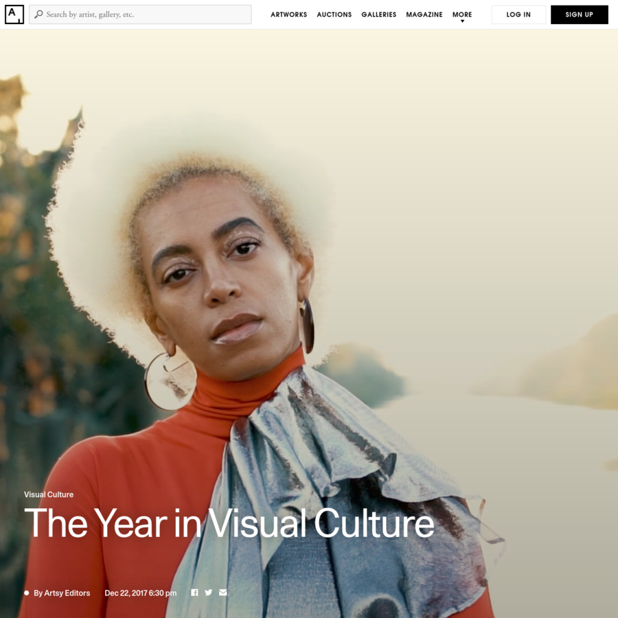 Commissioned video and photographs produced by Blink. Photography by Rush Jagoe, Emiliano Granado, Greg Funnel, Steven Herman, Alex Welsh, and Andrew Moynehan for Artsy. Video header, in order of appearance: Portrait of Solange in New Orleans, Louisiana by Rush Jagoe for Artsy; Anne Imhof, Faust at the Venice Biennale, 2017.