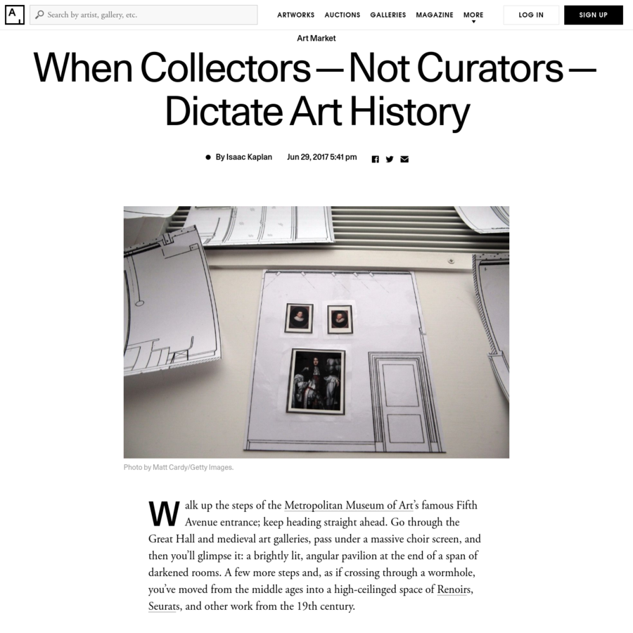 Unlike the strictly governed institutional practice of deaccessioning work, there are few firm rules for institutions on whether or in what cases to accept collections with strings attached. The Met, for example, states on its website that it generally does not accept donations with terms. But it and other museums like it are free to craft their own rules but can also make exceptions if needed.