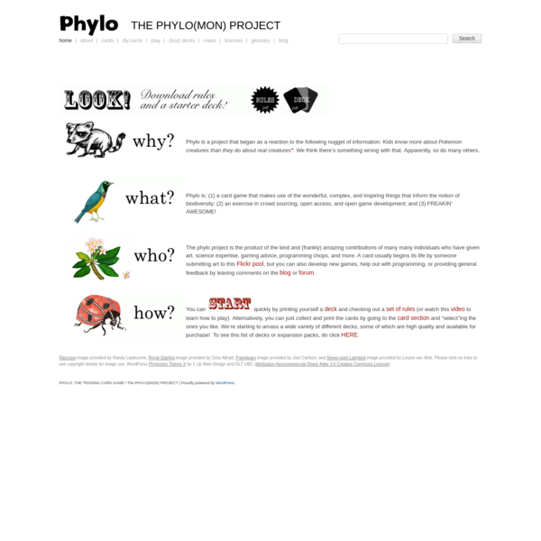 Phylo is a project that began as a reaction to the following nugget of information: Kids know more about Pokemon creatures than they do about real creatures* . We think there's something wrong with that. Apparently, so do many others.