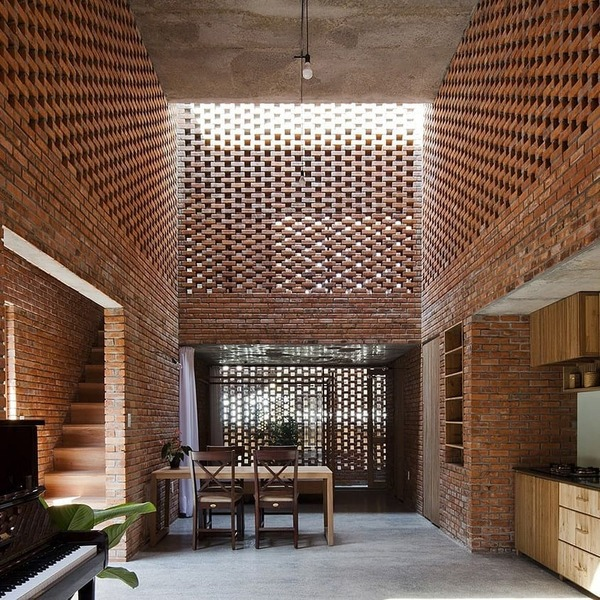"""20.5k Likes, 112 Comments - Architizer (@architizer) on Instagram: """"Termitary House by TROPICAL SPACE, Da Nang, Vietnam. A celebration of brick in the tropical climes..."""""""