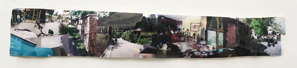 "Ellen Weitkamp Forgotten Places 36x6"" collaged photos"