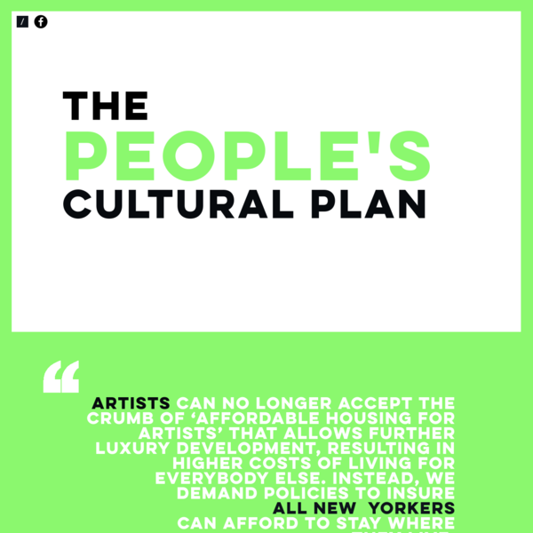 the Peoples Cultural Plan