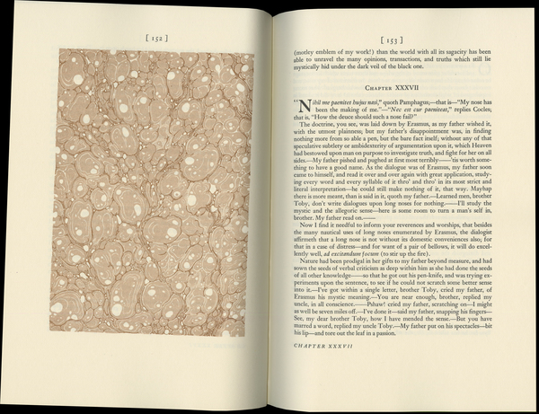 Sterne, Laurence, _The Life and Opinions of Tristram Shandy, Gentleman_ [1759–67] (Norwalk: The Heritage Press, 1963), pp. 152–3.