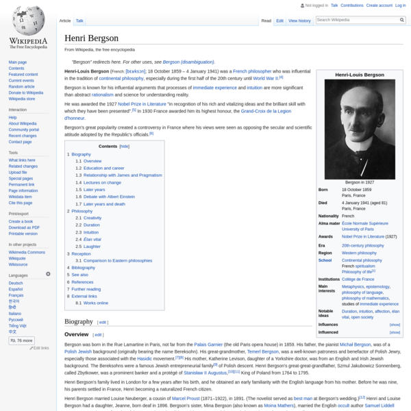 Henri Bergson - Wikipedia