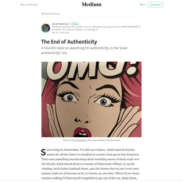 The End of Authenticity - Zander Nethercutt - Medium